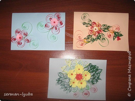 Квиллинг: Мои открытки фото 2