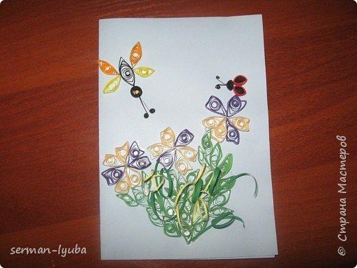 Квиллинг: открытки фото 2