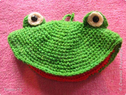 Вязание крючком: лягушка вязаная прихватка для горячего