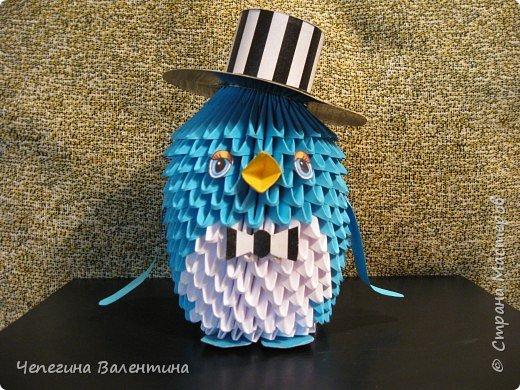 Оригами модульное: Пингвин джентельмен