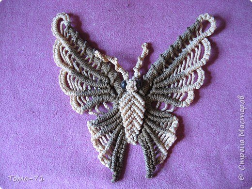 Макраме: бабочка сплетена из книги макраме автор Анна Краузе