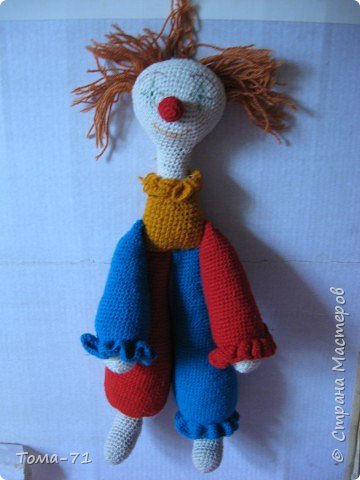 Вязание крючком: я клоун