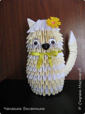 Оригами модульное: Кошечка
