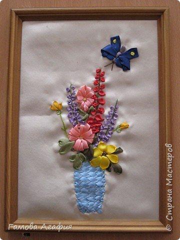 Вышивка: Букет луговых цветов фото 1
