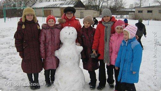 Наш снеговик