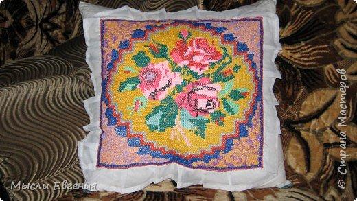 Вышивка крестом: диванная подушка