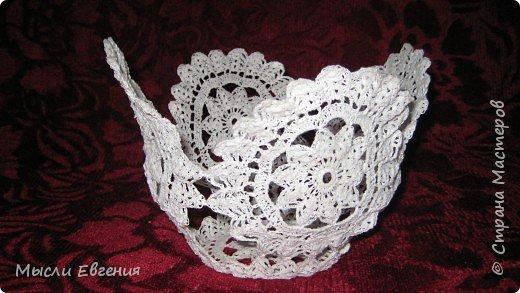 Вязание:  белая ваза фото 1