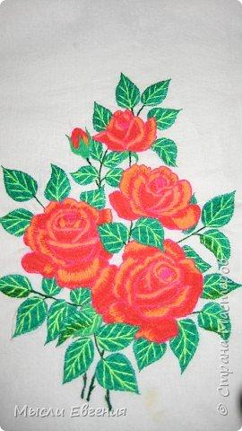 Вышивка: розы