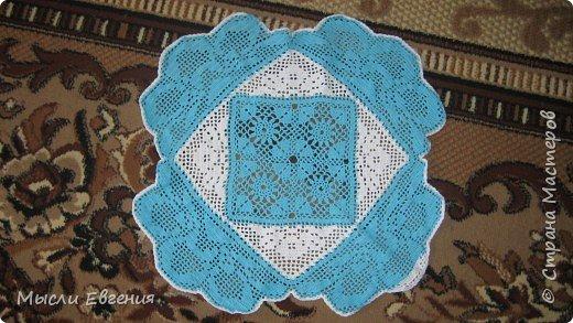 Вязание: салфетка
