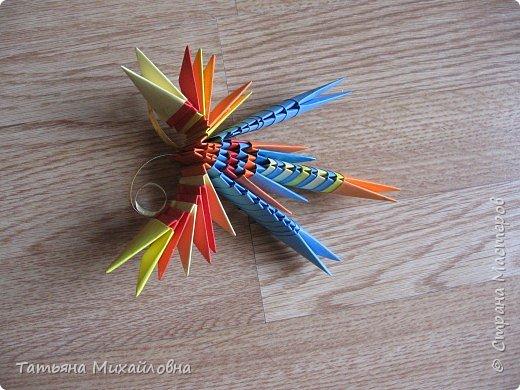 Оригами модульное: Подарок бабушке фото 3