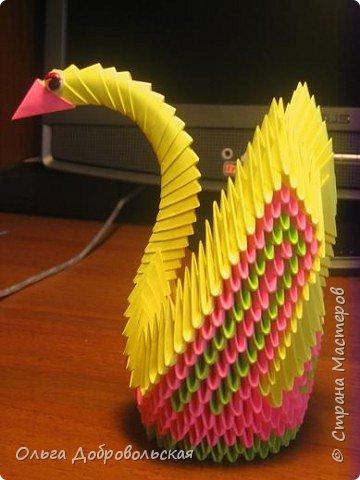 Оригами модульное: Птица фото 2