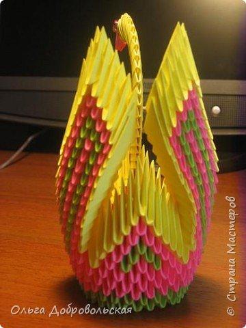 Оригами модульное: Птица фото 3