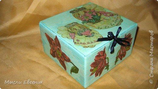 Декупаж: коробочка фото 3