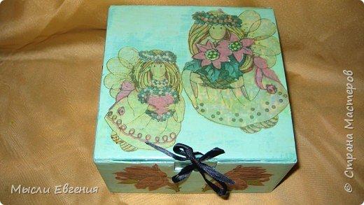 Декупаж: коробочка фото 2