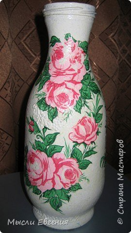 Декупаж: ваза под цветы фото 2