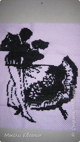 Вышивка крестом: силуэт фото 1
