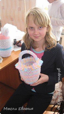 Оригами модульное: корзина фото 1