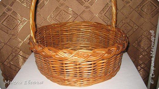 Плетение: плетеная корзина под кулич