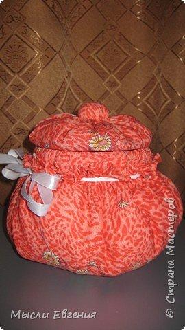 Шитьё: шкатулка из ткани