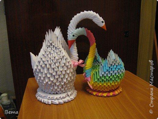 Оригами модульное: Мои лебеди