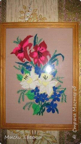 Вышивка: лилии и нарцисы