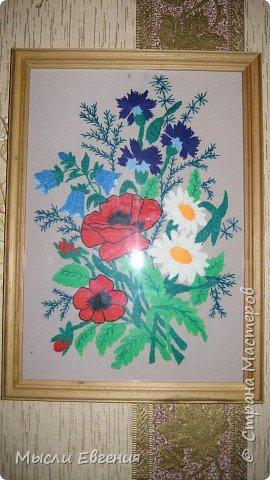 Вышивка: полевые цветы