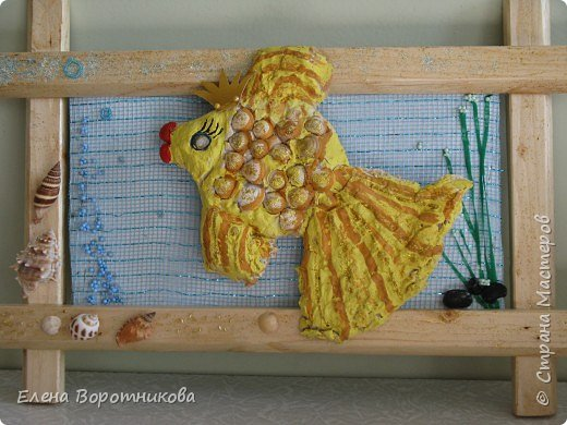 Лепка: Золотая рыбка