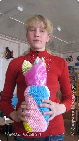 Оригами модульное: опять цветы и ваза фото 1