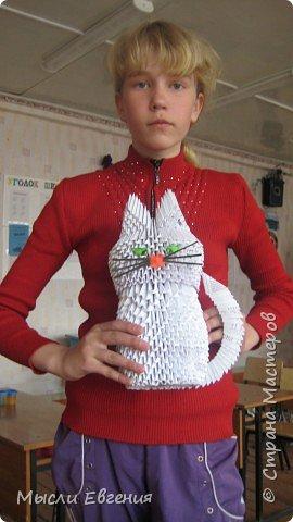 Оригами модульное: кот фото 1