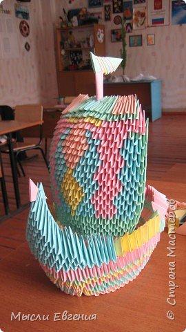 Оригами модульное: Наташин кораблик фото 2