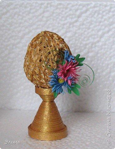 Квиллинг: А яичко не простое, а золотое! фото 2