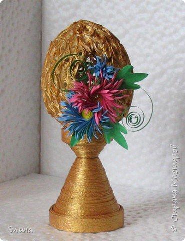 Квиллинг: А яичко не простое, а золотое! фото 1