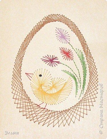 Изонить: открытка к Пасхе