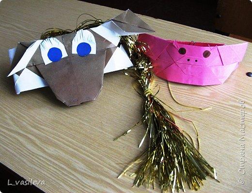 Оригами: Маски - шапочки к спектаклю фото 4