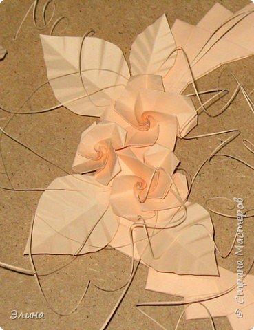 Оригами модульное: Венок из роз фото 2