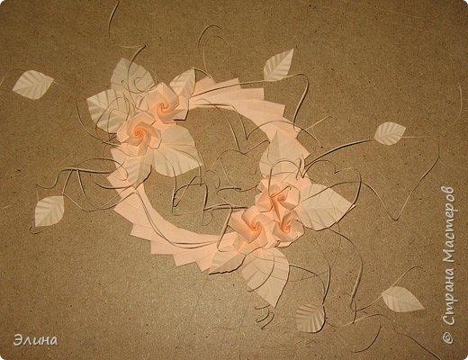 Оригами модульное: Венок из роз фото 1