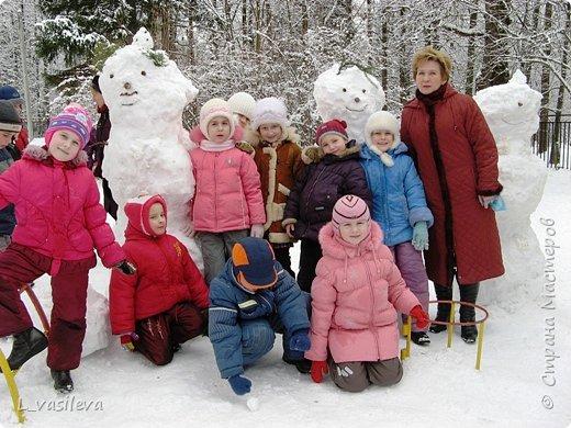 Три богатыря-снеговика! фото 1