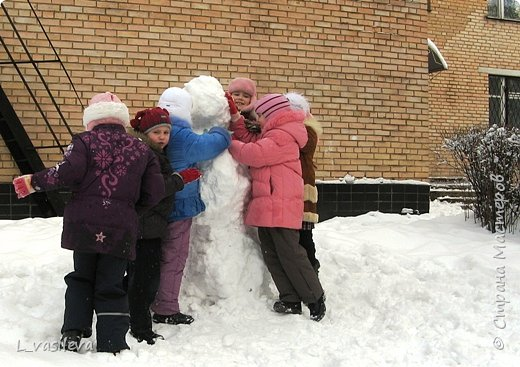 Три богатыря-снеговика! фото 3