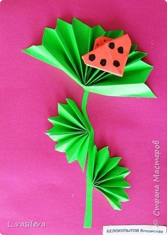 Оригами: Божья коровка