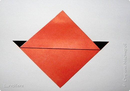 Оригами:  Снегири-Схема фото 2