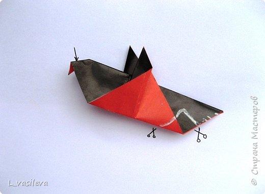 Оригами:  Снегири-Схема фото 4