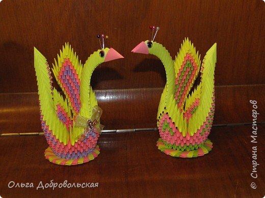Оригами модульное: Две птицы-сестрицы