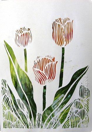 Вырезание: Тюльпаны