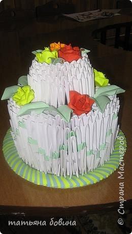 Оригами модульное: тортик фото 2