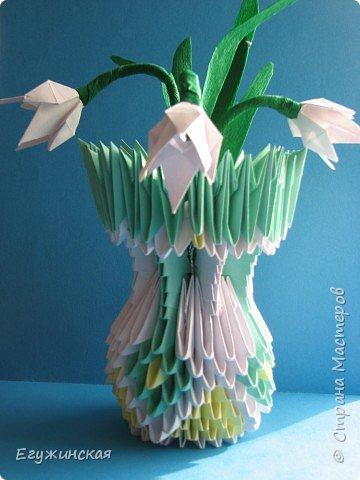 Оригами модульное: Подснежники  из  СТРАНЫ