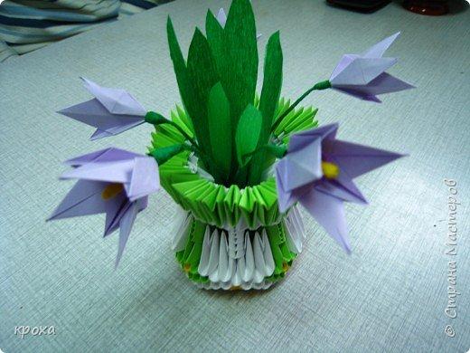 Оригами модульное: Первые подснежники фото 2
