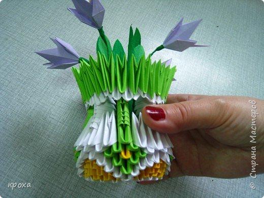 Оригами модульное: Первые подснежники фото 1