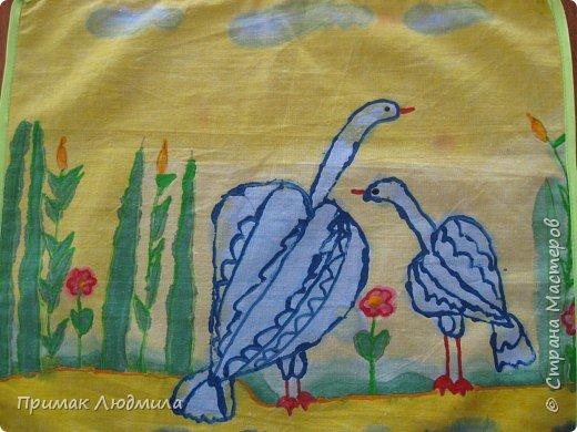 Батик: Лебеди