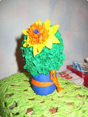 Торцевание на пластилине: Мой  кактус