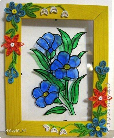 Витраж, Квиллинг: Цветок в рамке
